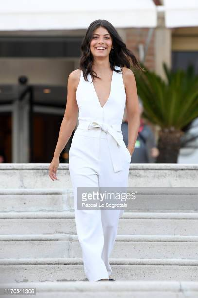 Patroness of the festival Alessandra Mastronardi attends the photocall of the Patroness of the 76th Venice Film Festival on August 27 2019 in Venice...