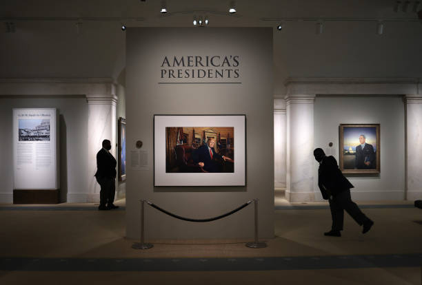 DC: Trump Portrait Exhibited As National Portrait Gallery Reopens To Public