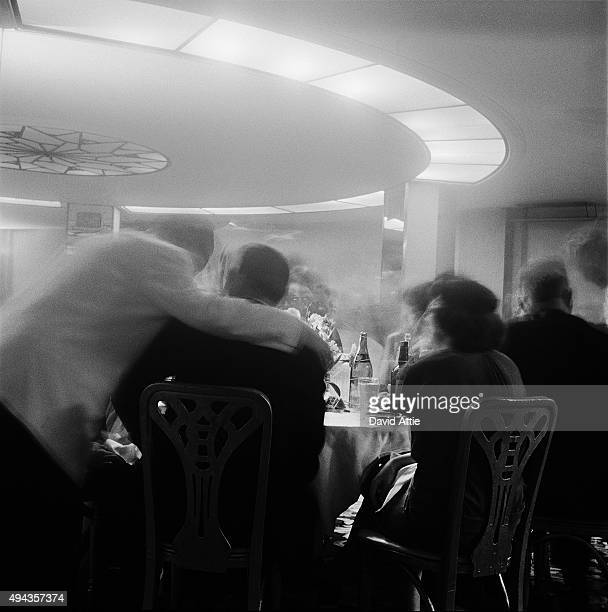 Patrons at a nightclub in Brooklyn Heights in March 1958 in New York City New York