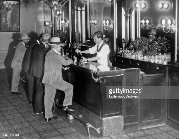 Patrons at a speakeasy San Francisco California 1931