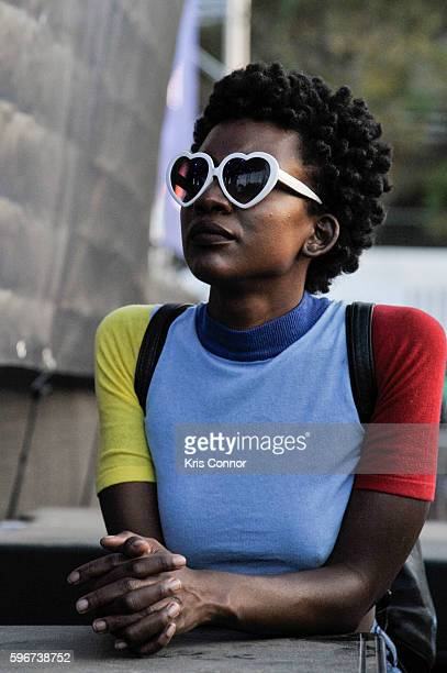 Patrons attend the 12th Annual Afropunk Brooklyn Festival at Commodore Barry Park on August 27 2016 in New York City