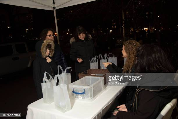 Patrons attend the 'Winter Luminaria with Tilted Axes' as part of Make Music Winter on December 21 2018 in New York City