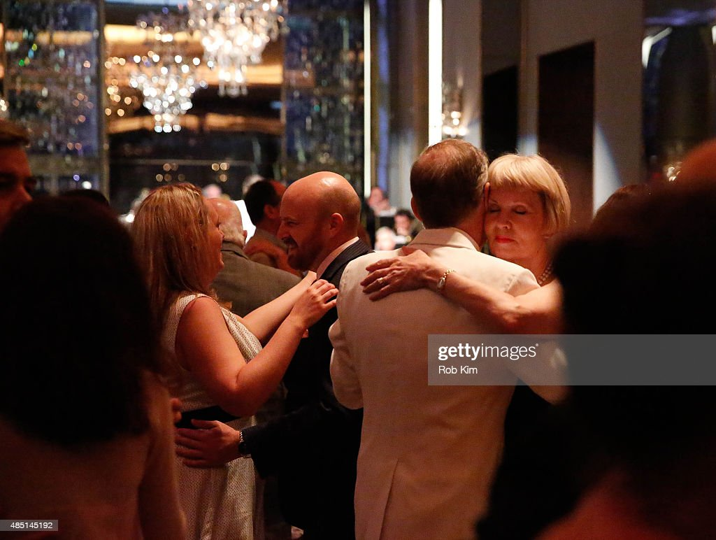 Patrons dance on the dance floor during Mondays With Max: Max Weinberg's Rainbow Room Residency at The Rainbow Room on August 24, 2015 in New York City.