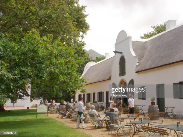 Patrons dine outdoors at the Jonkershuis restaurant at Groot Constantia in Cape Town South Africa on Friday Nov 9 2007 The sweet wine of Constantia...
