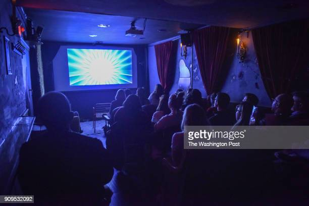 Patrons gather for the screening of 'BYT Murder Club Murder by Death' at Suns Cinema on Thursday January 18 in Washington DC Viewers are invited into...