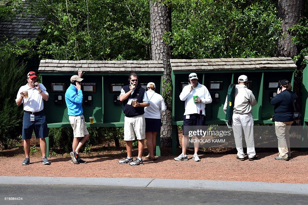 GOLF-US-MASTERS-PRACTICE : News Photo