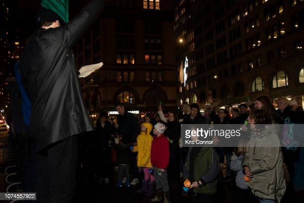 Patrons perform during 'Bell by Bell' as part of Make Music Winter on December 21 2018 in New York City