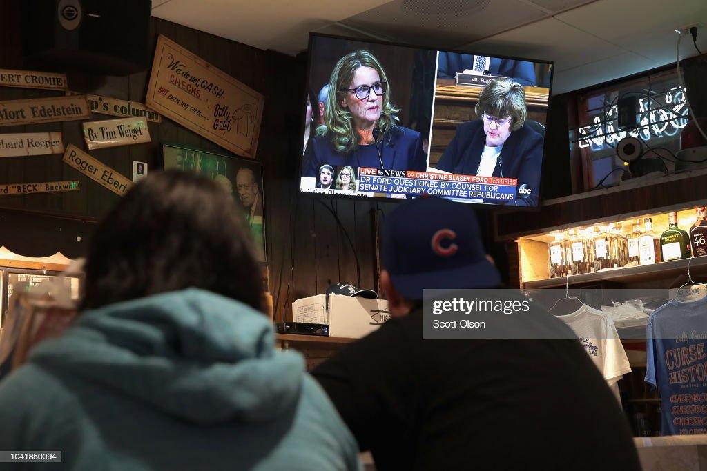 Landmark Senate Hearing Over Brett Kavanaugh's Supreme Court Nomination Viewed Around The Country : News Photo