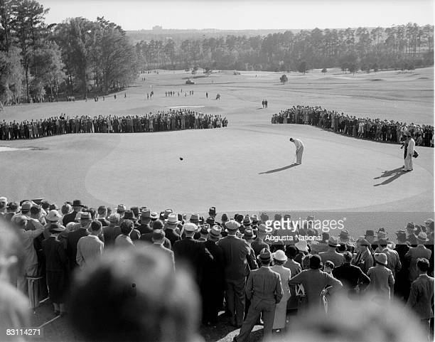 Patrons Watch Unknown Player On A Green During The 1939 Masters Tournament