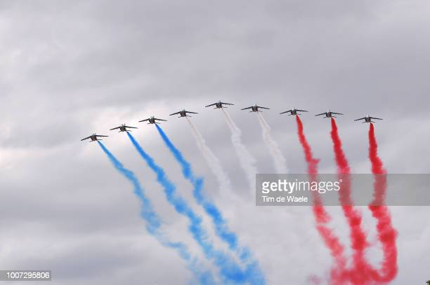Patrouille de France / Plane / Smoke / during the 105th Tour de France 2018, Stage 21 a 116km stage from Houilles to Paris Champs-Elysees / TDF / on...