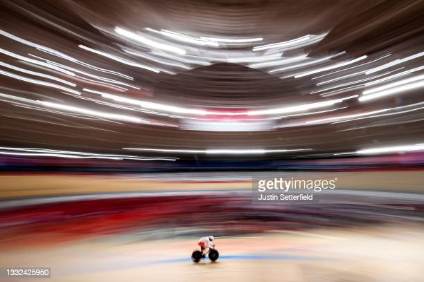 Patryk Rajkowski of Poland in action on day twelve of the Tokyo 2020 Olympic Games at Izu Velodrome on August 04, 2021 in Izu, Japan.