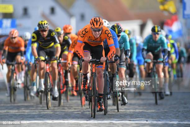 Patryk Stosz of Poland and CCC Sprandi Polkowice Team / Peloton / during the 73rd Nokere Koerse Danilith Classic 2018 a 1911 km race from Deinze to...