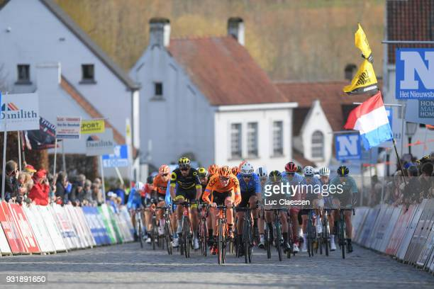 Patryk Stosz of Poland and CCC Sprandi Polkowice Team / Simon Sellier of France and Team Direc Energie / Peloton / during the 73rd Nokere Koerse...