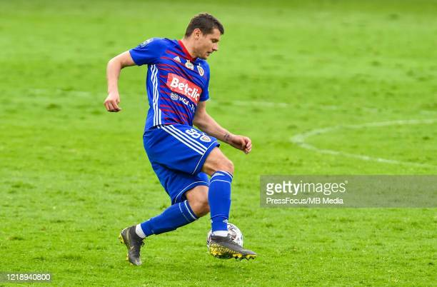 Patryk Tuszynski of Piast in action during the PKO Ekstraklasa match between Gornika Zabrze and Piast Gliwice at Ernest Pohl Stadium on June 9, 2020...