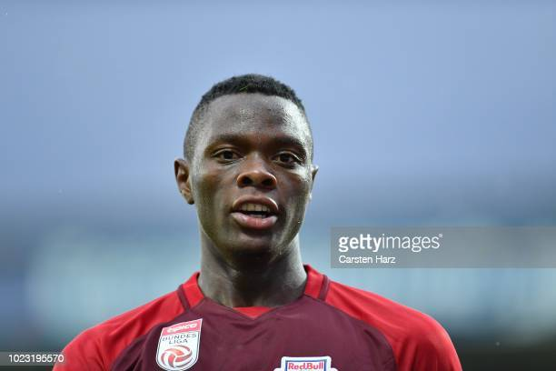 Patson Daka of Salzburg reacts during the tipico Bundesliga match between SCR Altach and RB Salzburg at Cashpoint Arena on August 25 2018 in Altach...