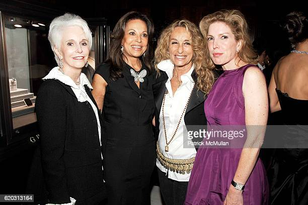 Patsy Callahan Anne Marie Graff Ann Dexter Jones and Diana Hall attend GRAFF Flagship Salon Opening hosted by LAURENCE GRAFF at Graff Flagship Salon...
