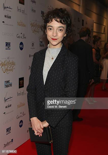 Patsy Ferran attends the 16th Annual WhatsOnStage Awards at The Prince of Wales Theatre on February 21 2016 in London England