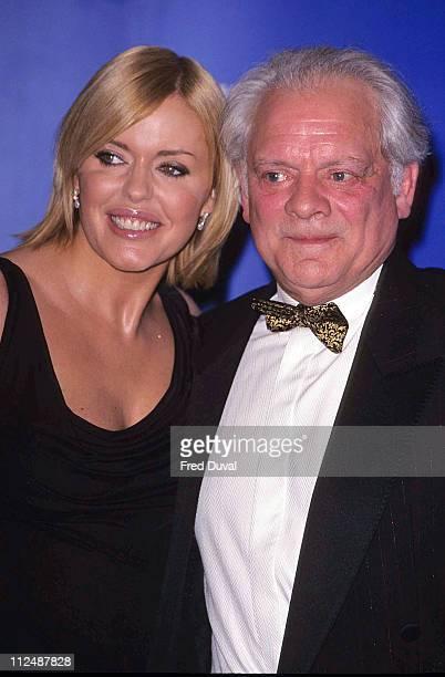 Patsy Kensit and David Jason during The Television Awards 2001 at Royal Albert Hall in Londnon United Kingdom