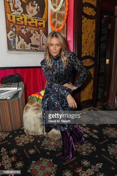 Patsy Kensit attends the LOVE Magazine 10th birthday party with Perrier-Jouet at Loulou's on September 17, 2018 in London, England.