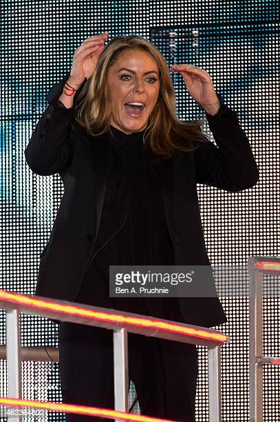 Patsy Kensit becomes the third celebrity to be evicted from the Big Brother house at Elstree Studios on January 27 2015 in Borehamwood England