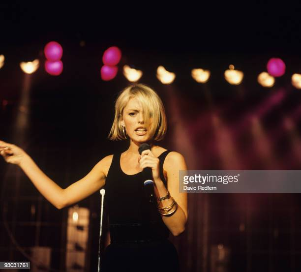 Patsy Kensit of Eighth Wonder performs on stage in 1987