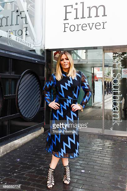 Patsy Kensit poses ahead of attending a screening and QA event for Absolute Beginners at BFI Southbank on September 22 2015 in London England