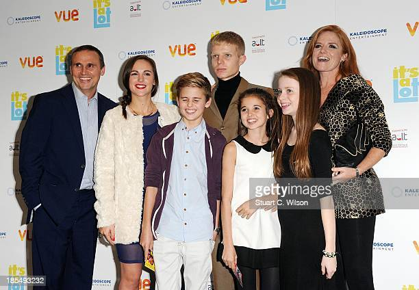 Patsy Palmer and family attend the West End Premiere of 'It's A Lot' at Vue West End on October 21 2013 in London England