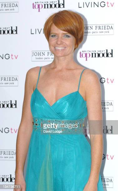 Patsy Palmer during Britain's Next Top Model Launch Party Arrivals at Debenham House in London Great Britain