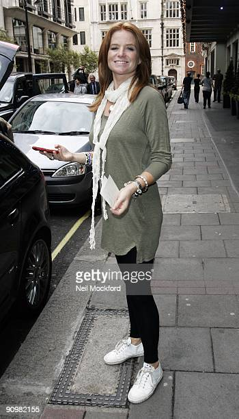 Patsy Palmer leaving The Mayfair Hotel on September 20 2009 in London England
