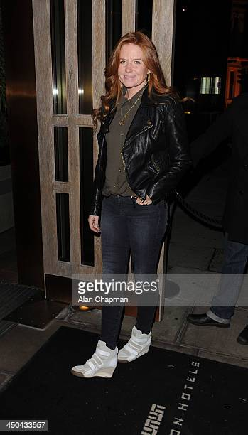 Patsy Palmer sighting at Kelly Hoppen book launch on November 18 2013 in London England