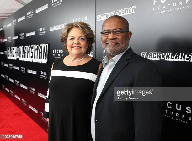 Patsy Stallworth and writer Ron Stallworth attend the 'BlacKkKlansman' New York Premiere at Brooklyn Academy of Music on July 30 2018 in New York City