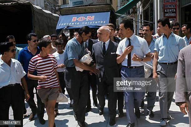 Pattakos Greek Minister Of The Interior En Grèce en juin 1967 Stylianos PATTAKOS ministre de l'Intérieur portant un costume cravate marchant