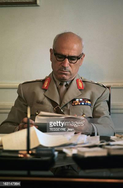 Pattakos Greek Minister Of The Interior En Grèce en juin 1967 Stylianos PATTAKOS ministre de l'Intérieur portant un uniforme cravate militaire et des...