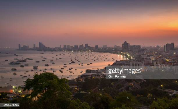 Pattaya view point. The major port city of Thailand