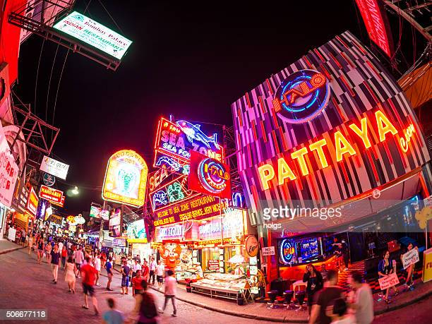 Pattaya Walking Street in Thailand