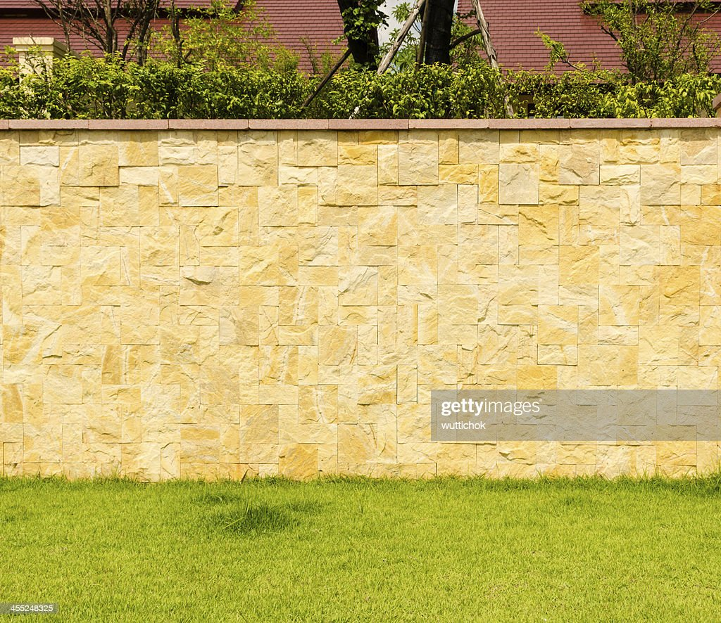 Pattern Design Decorative Real Stone Wall Surface Stock Photo ...