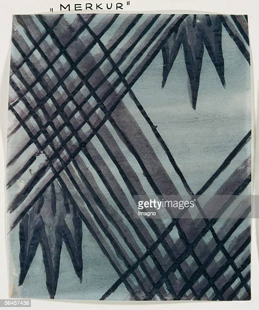 Pattern design for the fabric by the Wiener Werkstaette Merkur By Dagobert Peche 19111913 Watercolour [Stoffmusterentwurf fuer den Wiener...
