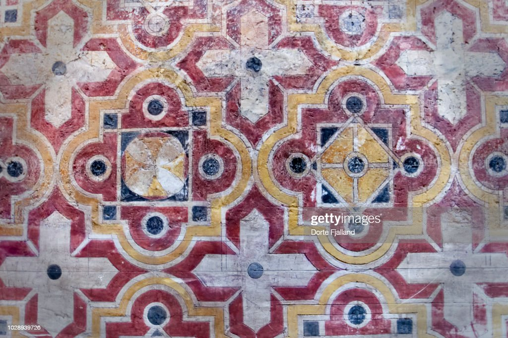 Pattern detail on a wall of a church in Malaga City : Foto de stock