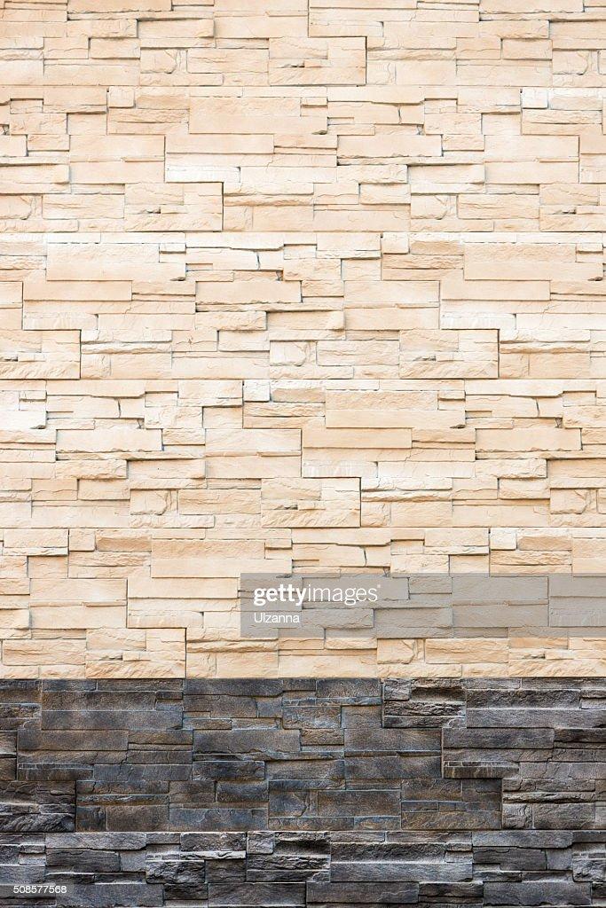 Pattern from decorative slate stone wall surface. : Stock Photo