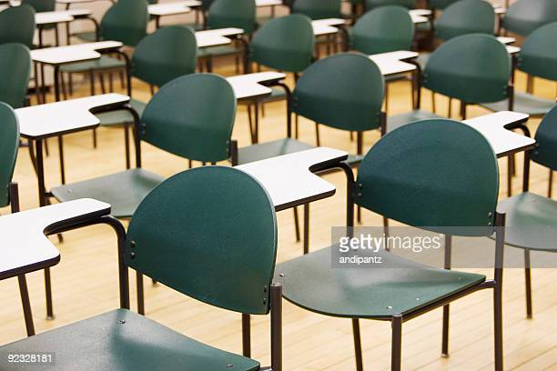 Pattern of chairs in a high school classrooom