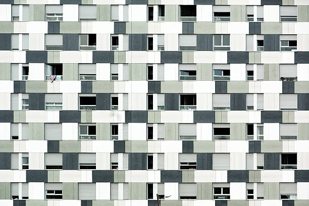 Pattern of different grays on Barcelona building