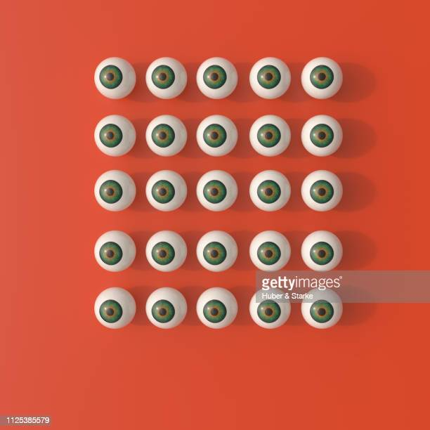 pattern of eyeballs - big brother orwellian concept stock pictures, royalty-free photos & images