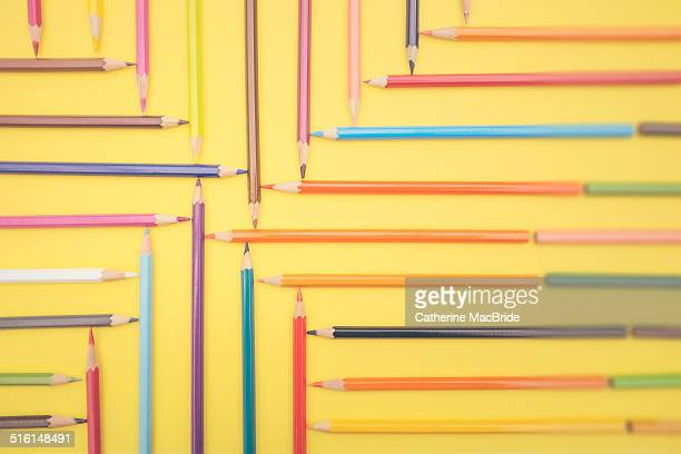 patterned pencils... - catherine macbride stockfoto's en -beelden