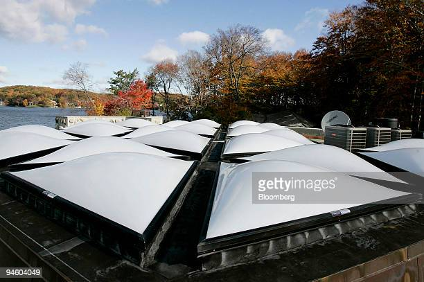 24 patterned skylights line the roof of Massaro house a 5000squarefoot Frank Lloyd Wrightbased home overlooking the waters of Lake Mahopac on Petra...