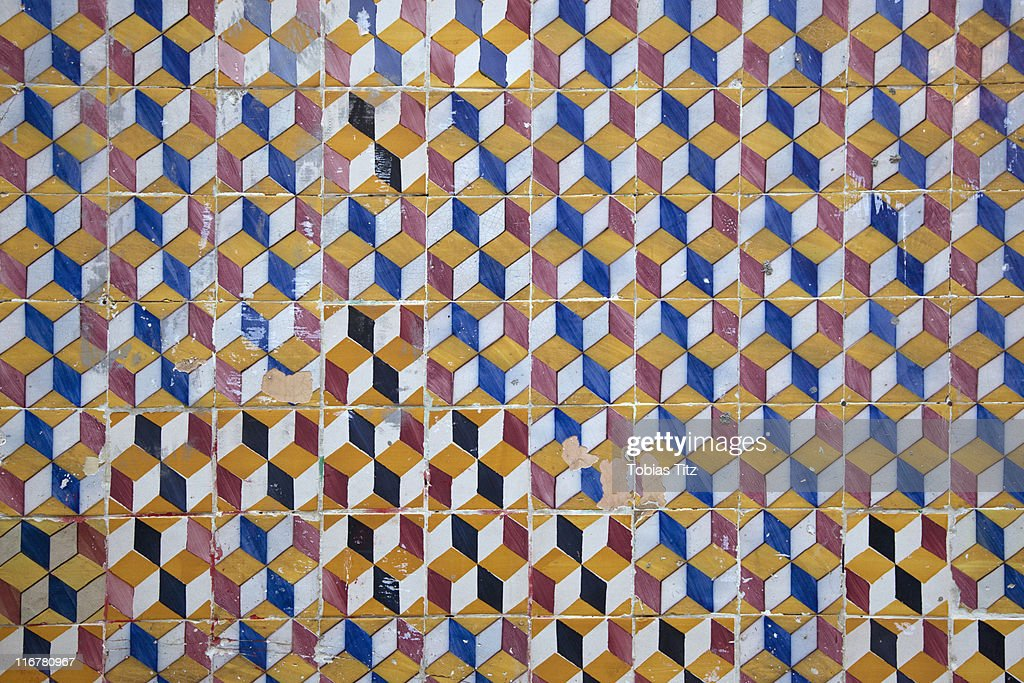 Patterned Wall Tiles Stock Photo | Getty Images