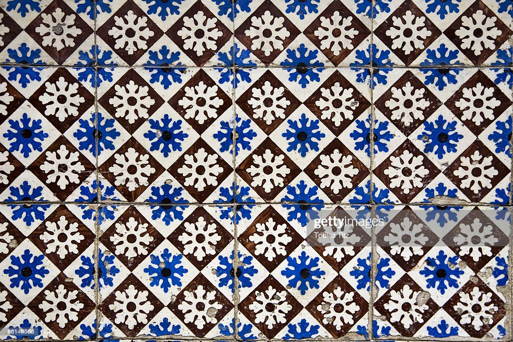 Patterned Wall Tiles Porto Portugal Stock Photo | Getty Images