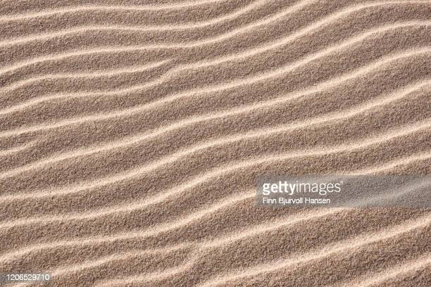 patterns and textures in the sand at the beach - finn bjurvoll stock pictures, royalty-free photos & images