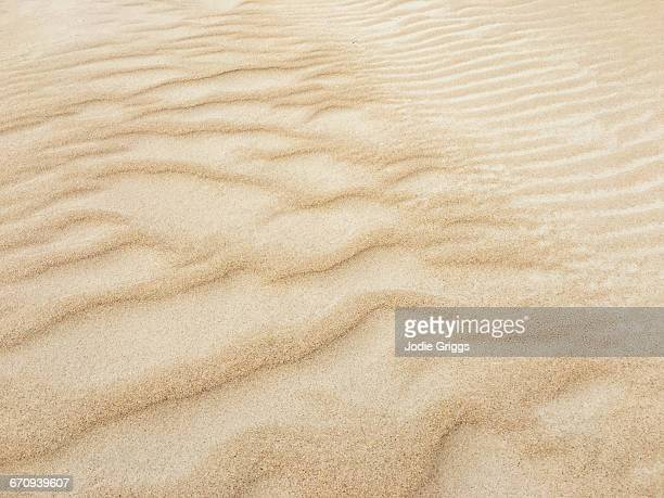 Patterns in the sand at the beach