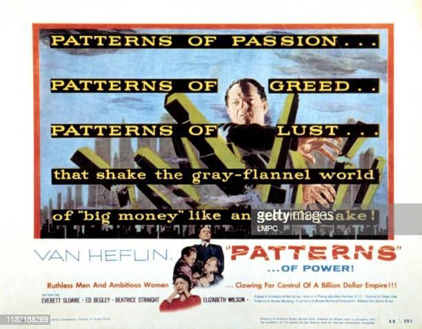 Patterns lobbycard Van Heflin Beatrice Straight Ed Begley Everett Sloane 1956