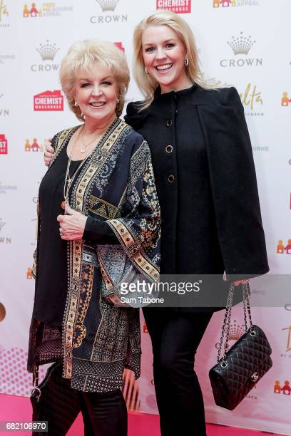 Patti and Lauren Newton arrive ahead of the Crown Celebrity Mother's Day Luncheon on May 12 2017 in Melbourne Australia